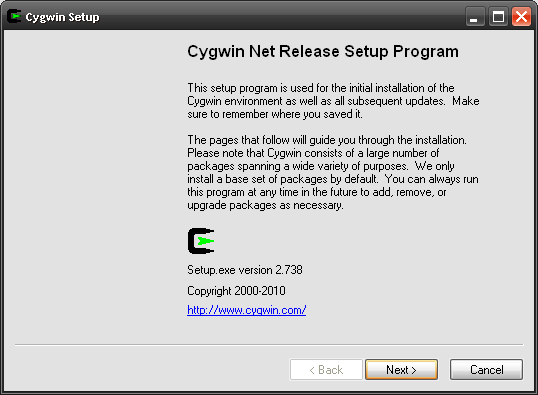 cygwin windows xp